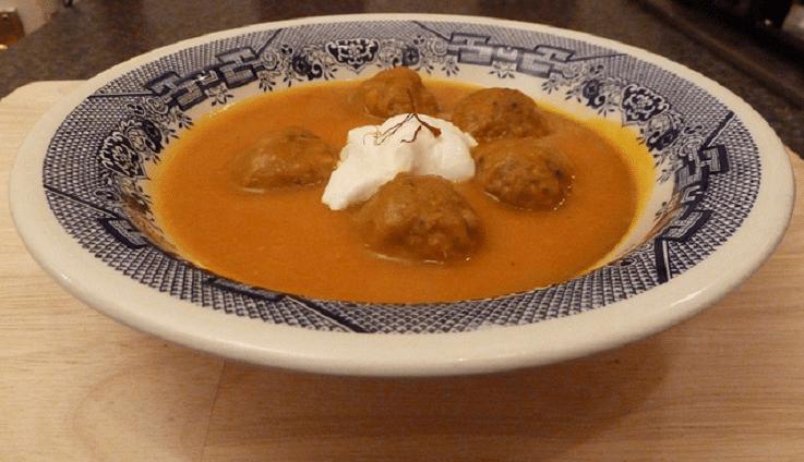 тыквенный суп с фрикадельками