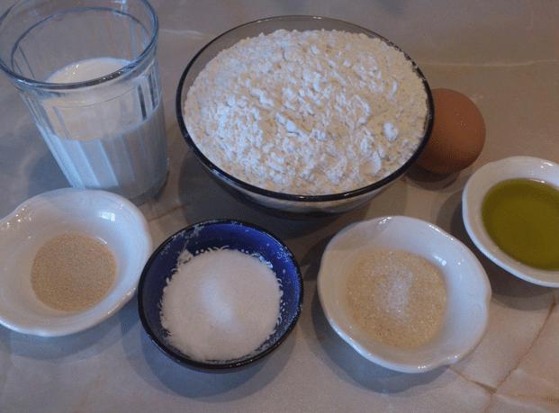 Тесто для пиццы на молоке