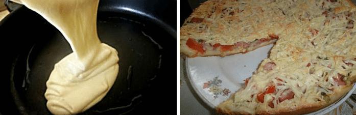 Мгновенное тесто на сковороде