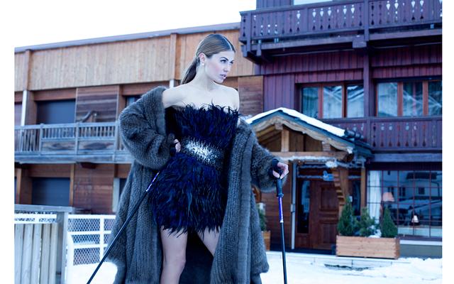 Виктория Боня на съемках для Daniel Benjamin Geneva