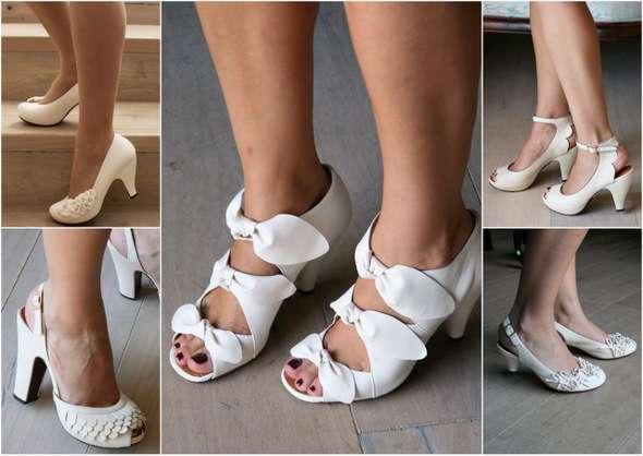 85fa17ccfb7723 Невисокий вигнутий каблук, шнурівка, бант по центру, округлений, трохи  кирпатий, носок туфель — всі ці деталі характерні для взуття в ретро-стилі.